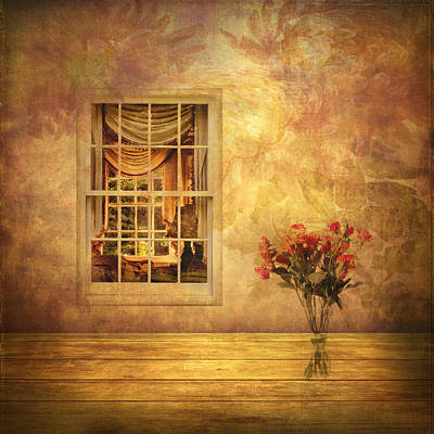 Interior Still Life Digital Art - Room With A View by Jessica Jenney
