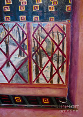 Online Shopping Painting - Room With A View by Karen Francis