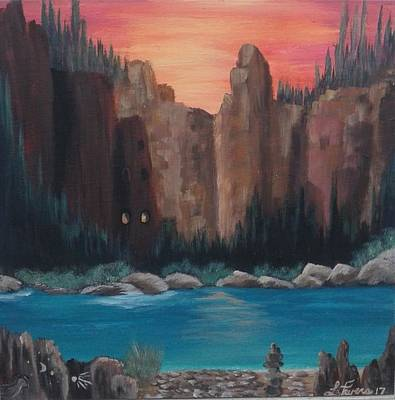 Bob Ross Painting - Room With A View by Lori Lafevers