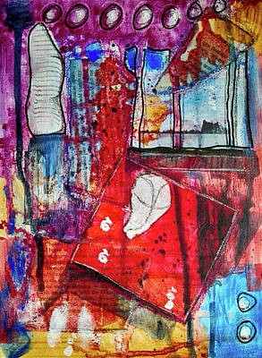 Mixed Media - Room With A View by Mimulux patricia No
