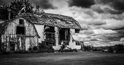 Photograph - Room With A View Please In Black And White by Kathleen Scanlan
