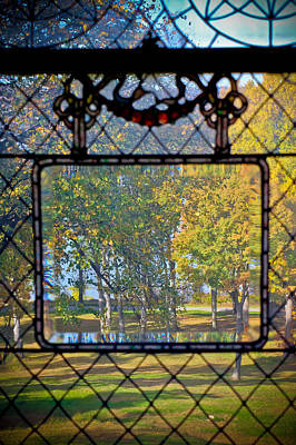 Photograph - Room With A View - Tiffany Window  by Colleen Kammerer