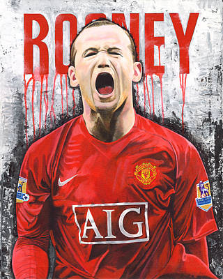 Wayne Rooney Wall Art - Painting - Rooney by Jeff Gomez