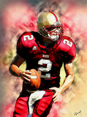 Digital Art - Roos Quarterback by Kai Saarto