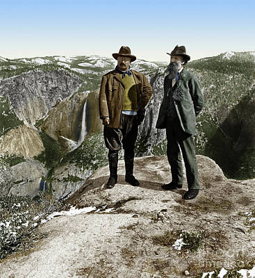 Photograph - Roosevelt And Muir 1903 by Granger