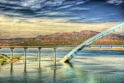 Roosevelt Bridge Photograph - Roosevelt Lake Bridge by Saija  Lehtonen