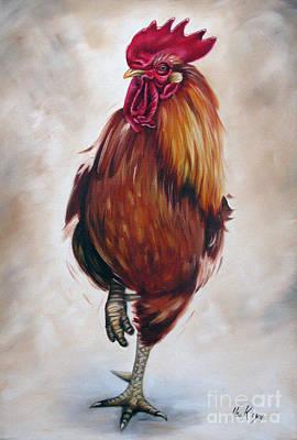 Rooster 17 Of 10 Print by Ilse Kleyn