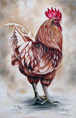Rooster 18 Of 10 Art Print by Ilse Kleyn