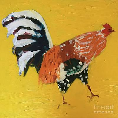 Painting - Rooster 2 by Donald J Ryker III