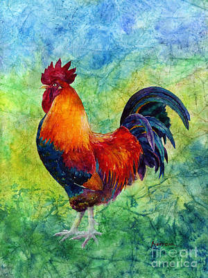Nature Scene Painting - Rooster 2 by Hailey E Herrera