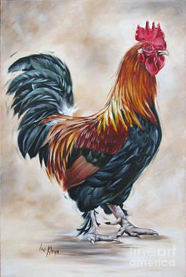 Rooster 20 Of 10 Art Print by Ilse Kleyn