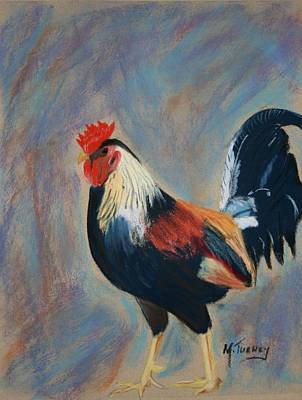 Pastel - Rooster Attitude by Michele Turney