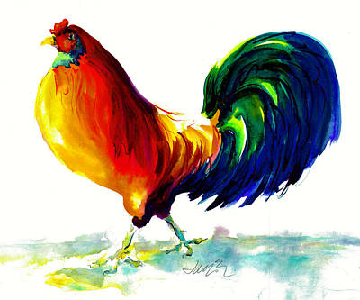 Painting - Rooster - Big Napoleon by Jacki Kellum