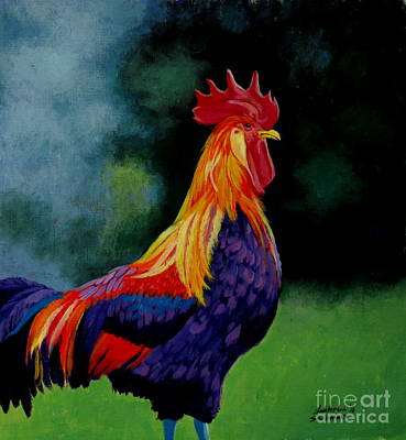 Painting - Rooster by Christopher Shellhammer