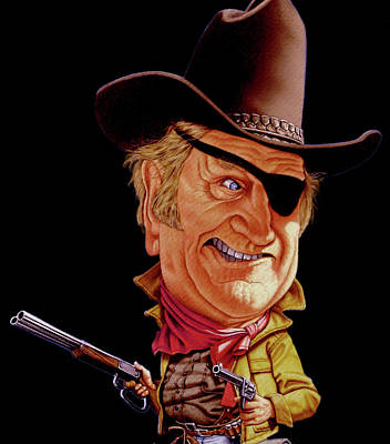 True Grit Painting - Rooster Cogburn by Hedward Brooks