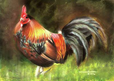Pastel - Rooster Dance by Melissa Herrin