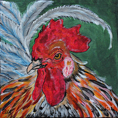 Painting - Rooster by Ella Kaye Dickey