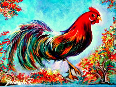 Rooster/gallito Art Print