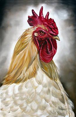 Rooster Head II Art Print by Ilse Kleyn