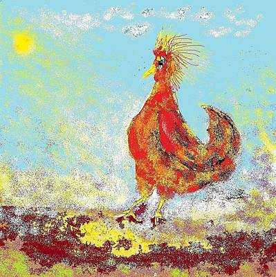 Digital Art - Rooster In The Sun by Jim Taylor