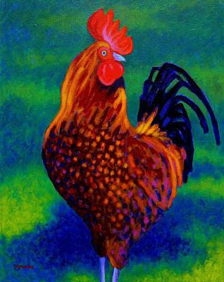 Nature Poster Art Painting - Rooster by John  Nolan