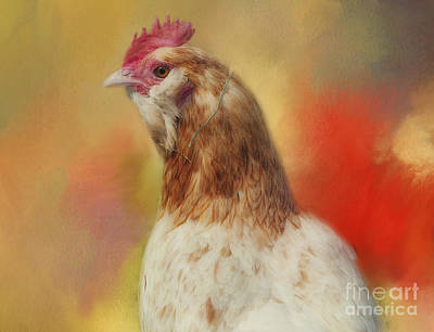 Rooster Art Print by Kathleen Rinker