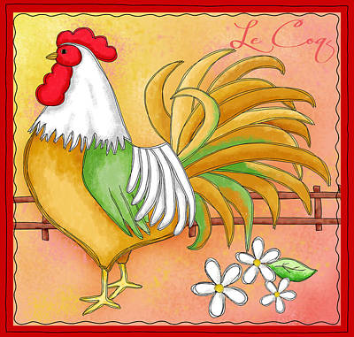 Le Coq Painting - Rooster Le Coq by Phyllis Dobbs