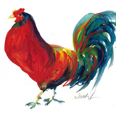 Painting - Rooster - Little Napoleon by Jacki Kellum