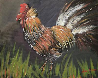 Painting - Rooster - Moby - Chicken by Jan Dappen