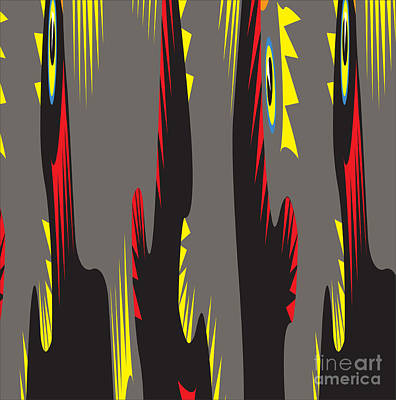 Digital Art - Rooster Morning Wake Up Call by Heinz G Mielke