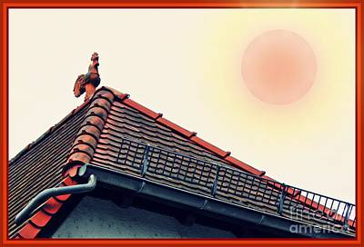 Rooster Digital Art - Rooster On The Roof by Sarah Loft