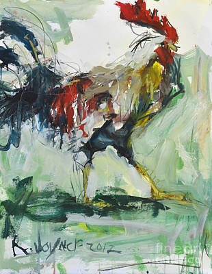 Rooster Painting Art Print by Robert Joyner
