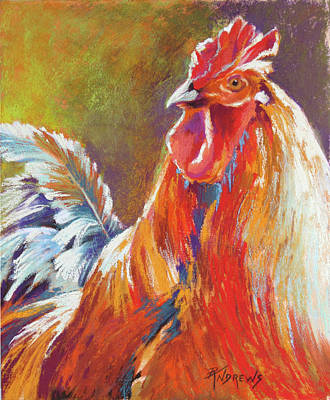 Painting - Rooster by Rae Andrews