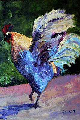 Domestic Animals Painting - Rooster by Rok Lekaj