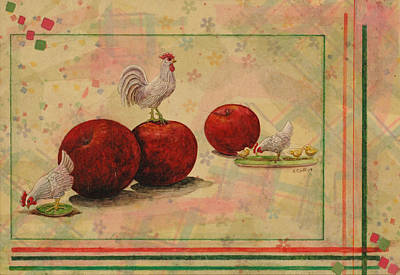 Rooster Art Print by Sandy Clift