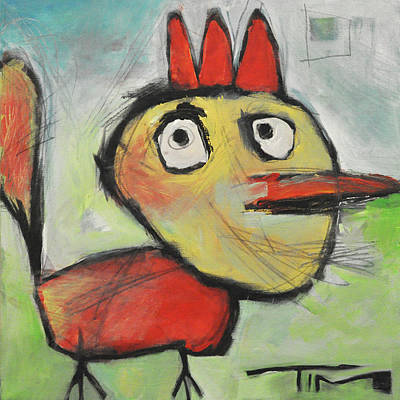 Painting - Rooster by Tim Nyberg