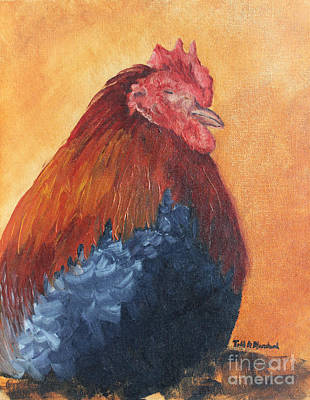 Painting - Rooster by Todd Blanchard