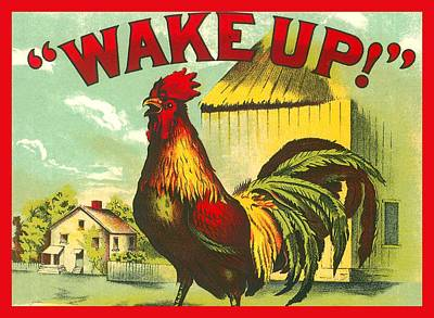 Digital Art - Rooster Wake Up by Marianne Dow