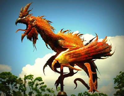 Rooster Weathervane By David Smith Print by David Smith