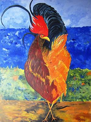 Painting - Rooster With Attitude by Gary Smith