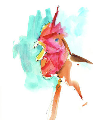Chicken Mixed Media - Rcnpaintings.com by Chris N Rohrbach
