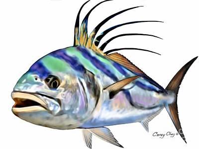 Animals Digital Art - Roosterfish Digital by Carey Chen