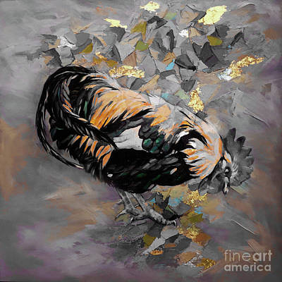 Painting - Roosters 0v by Gull G