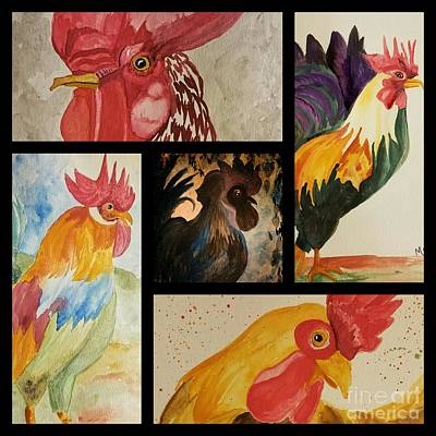 Painting - Roosters by Maria Urso