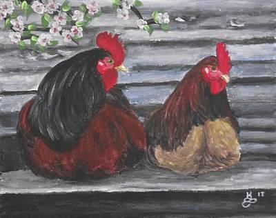 Roosting Art Print by Kim Selig