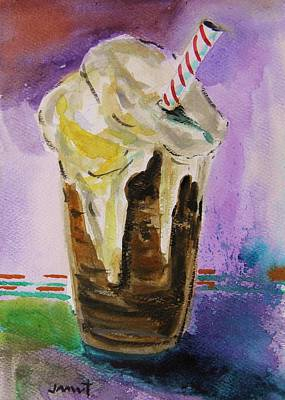 Watercolor On Paper Drawing - Root Beer Float by John Williams