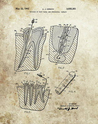 Drawing - Root Canal Patent by Dan Sproul