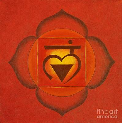 Wall Art - Painting - Root Chakra by Anna Martinsen