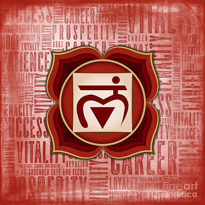 Digital Art - Root Chakra - Awareness by David Weingaertner
