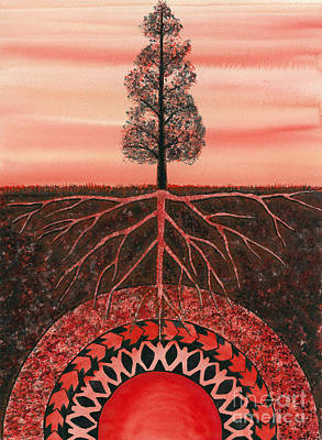 Ground Painting - Root Chakra by Catherine G McElroy